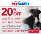 PetSmart 20% Off AutoShip Offer