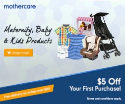 Mothercare $5 Off 1st Purchase