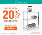 Tidy Living 20% Off Wire Shelving Coupon Code