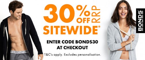Bonds 30% Off Sitewide